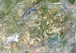 Zimbabwe, Image Satellite de couleurs avec bordure