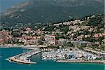 Yacht port in french mediterranean town Menton