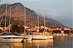 Adriatic Sunset and Marina in Baska Voda, Croatia