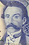 Camilo Castelo Branco (1825-1890) on 100 Escudos 1965 Banknote from Portugal. Prolific Portuguese writer.
