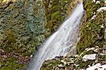 Mountain creek waterfall long exposure, Kalnik, Croatia