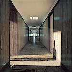 Open door  in a dark corridor.