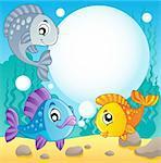 Fish theme image 2 - vector illustration.