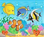 Fish theme image 3 - vector illustration.