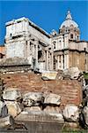 the ruins of Rome, the Forum Romano, Italia