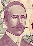 Petar Kocic (1877-1916) on 100000 Dinara 1993 Banknote from Bosnia Herzegovina. Serb prose writer and politician from Bosnia and Herzegovina.
