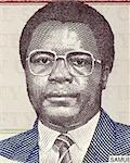 Samuel Doe (1951-1990) on 50 Dollars 2009 Banknote from Liberia. 21st President of Liberia.