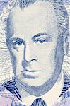 Skender Kulenovic (1910-1978) on 50 Pfeniga 1998 Banknote from Bosnia Herzegovina. Bosnian poet, novelist and dramatist.