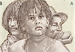 Three Generations of Eritreans on 5 Nakfa 1997 Banknote from Eritrea.
