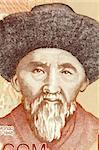 Togolok Moldo (1860-1942) on 20 Som 2002 Banknote from Kyrgyzstan. Kyrgyz poet, Manaschi and folk song writer.