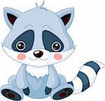 Fun zoo. Illustration of cute Raccoon
