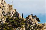Pirate Castle on the Rock in Omis, Croatia