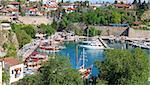 Turkey. Antalya town. Beautiful view of harbor