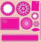 Image of Vector set lace frames