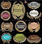 Premium quality leather labels