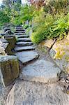Landscape Garden Granite Rock Stone Steps