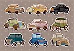 retro car stickers