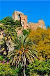 a view of Alcazaba of Malaga, in Malaga, Spain