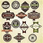 Vintage quality labels, retro design