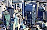Aerial view at the Bangkok city buildings