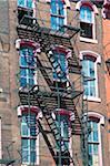 Des escaliers de secours, Philadelphie, Pennsylvanie, Etats-Unis