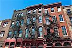 Immeubles d'habitation, Philadelphie, Pennsylvanie, Etats-Unis