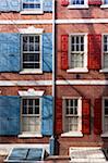 Fenêtres avec volets, Philadelphie, Pennsylvanie, Etats-Unis