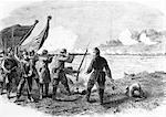 ANNÉES 1860 DU XIXE SIÈCLE 31 AOÛT 1861 PREMIÈRE BATAILLE DE BULL RUN NEW YORK REGIMENT TIRÉ SUR LES TROUPES ALABAMA GUERRE DE SÉCESSION