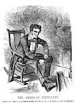 DU XIXE SIÈCLE DES ANNÉES 1860 1861 PUNCH CARTOON ABRAHAM LINCOLN CHEMINÉE FUMÉE DE LA MAISON BLANCHE AMÉRICAINE MAL QUEL A NICE CE SERAIT SI CE N'ÉTAIT PAS POUR LES NOIRS