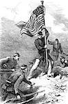 INCIDENT DU XIXE SIÈCLE DES ANNÉES 1860 1863 LORS DU SIÈGE DE VICKSBURG MISSISSIPPI EN HISSANT LE DRAPEAU UNION FÉDÉRAL