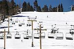 Ski Lift Chairs on Ski Slope