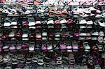 Fournisseur de chaussures au marché, Ho Chi Minh ville, Vietnam