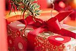 Cadeau de Noël, gros plan