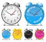 Alarm clocks, vector eps10 illustration