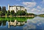 Orlik Castle above the lake