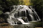 White Owl Falls on the Thompson River in Transylvania County, North Carolina.