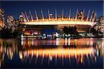 BC Place Stadium in der Nacht, Vancouver, British Columbia, Kanada