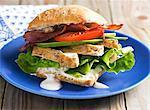 Hühnchen, Avocado und Speck-sandwich