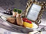 Médaillons de cerf, haricots aux lardons et pommes de terre en tranches