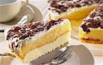 Tarte Pomme suédois au chocolat crème et râpé