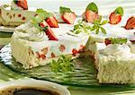 Strawberry and woodruff tart