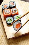 Verschiedene Maki sushi
