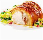 Crispy roast pork with crackling