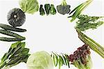Gestaltung von grünem Gemüse