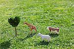 Animals, Heart Shape Tree On Grassy Field