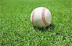 Balle de cricket sur l'herbe