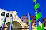 Rialto-Brücke und den Canal Grande