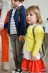 Schoolgirl and a schoolboy