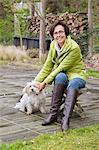 Frau mit ihrem Hund