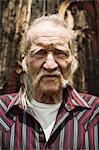 Senior man close up, portrait